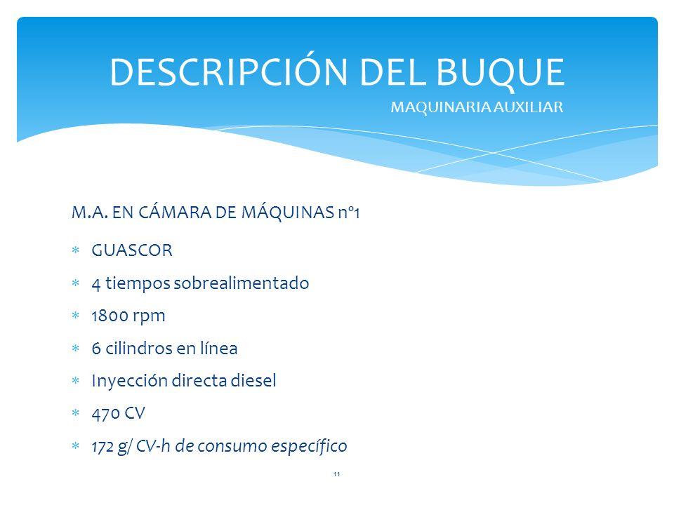 DESCRIPCIÓN DEL BUQUE M.A. EN CÁMARA DE MÁQUINAS nº1 GUASCOR