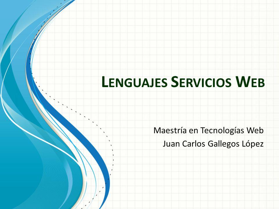 Lenguajes Servicios Web