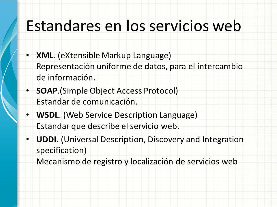 Estandares en los servicios web