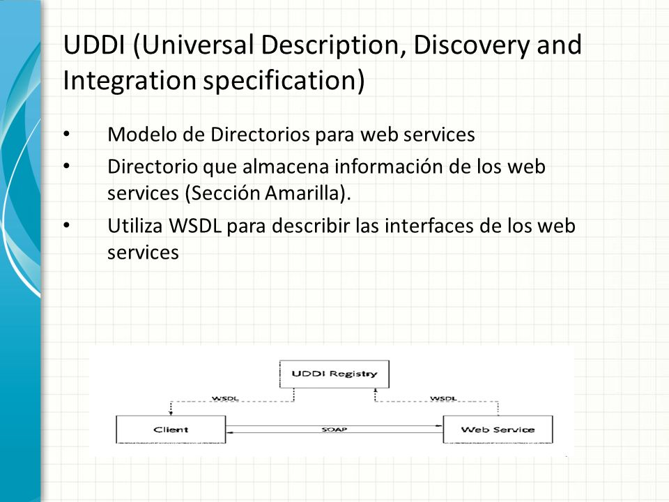 UDDI (Universal Description, Discovery and Integration specification)