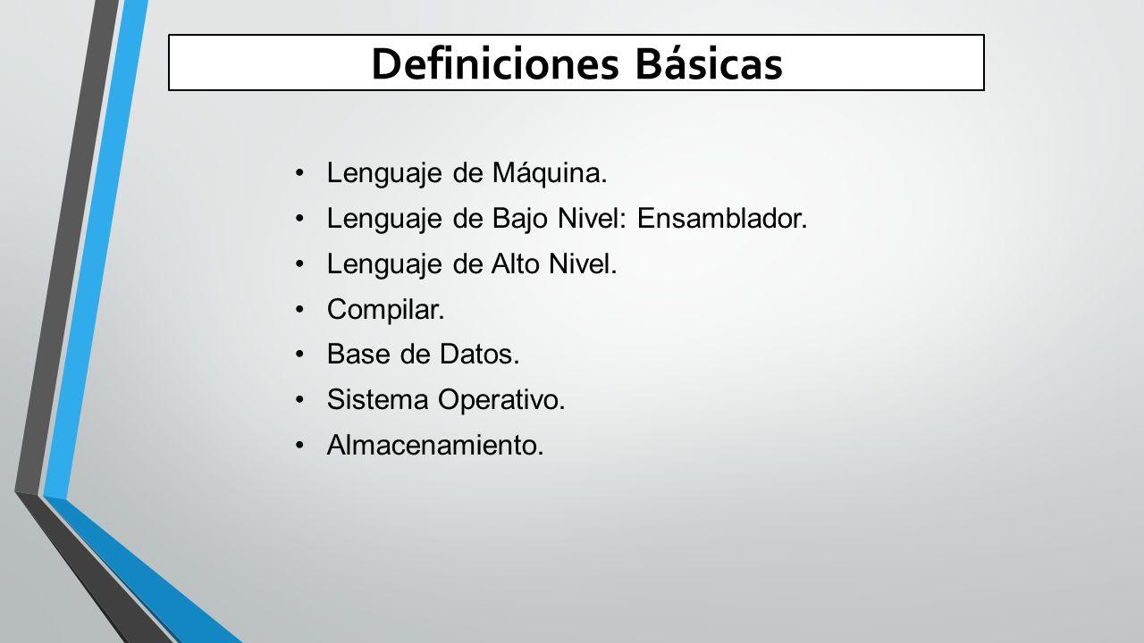 Definiciones Básicas Lenguaje de Máquina.