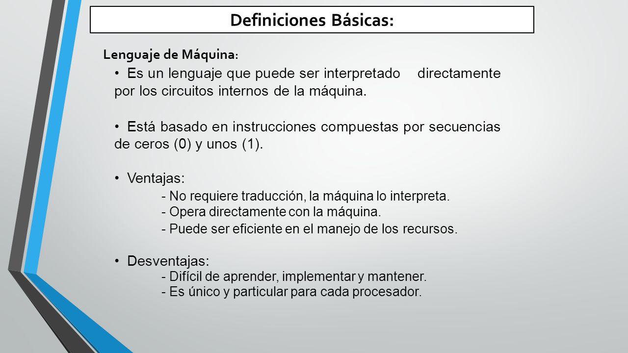 Definiciones Básicas: