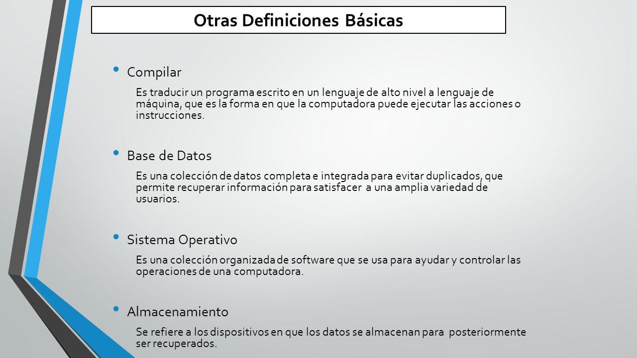 Otras Definiciones Básicas