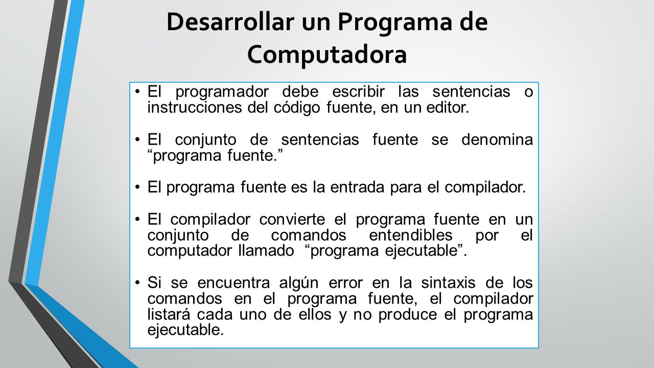 Desarrollar un Programa de Computadora