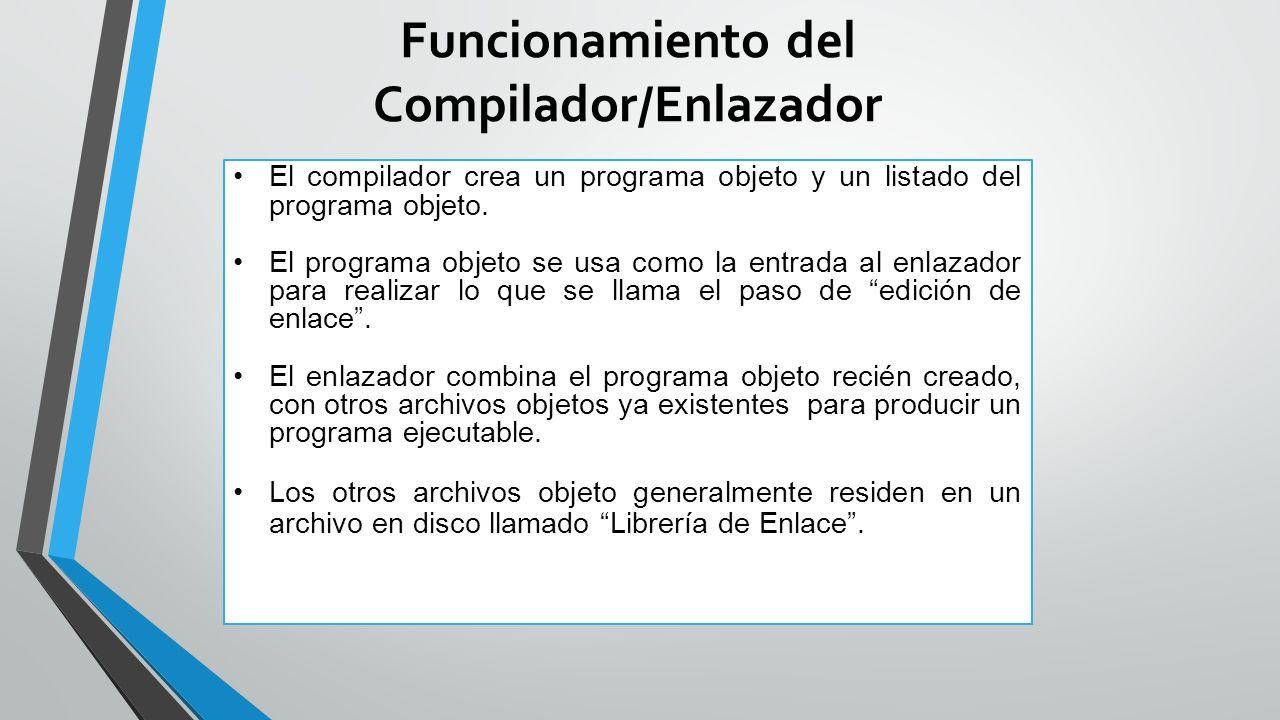 Funcionamiento del Compilador/Enlazador