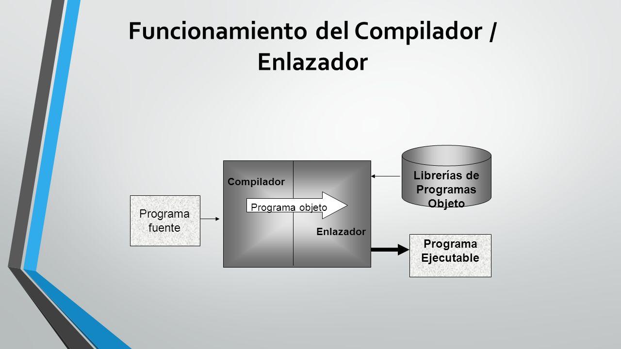 Funcionamiento del Compilador / Enlazador