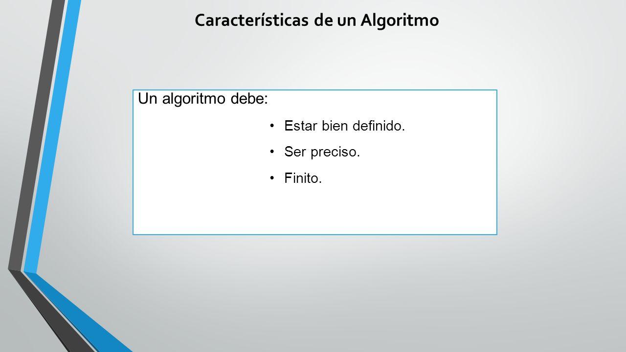 Características de un Algoritmo