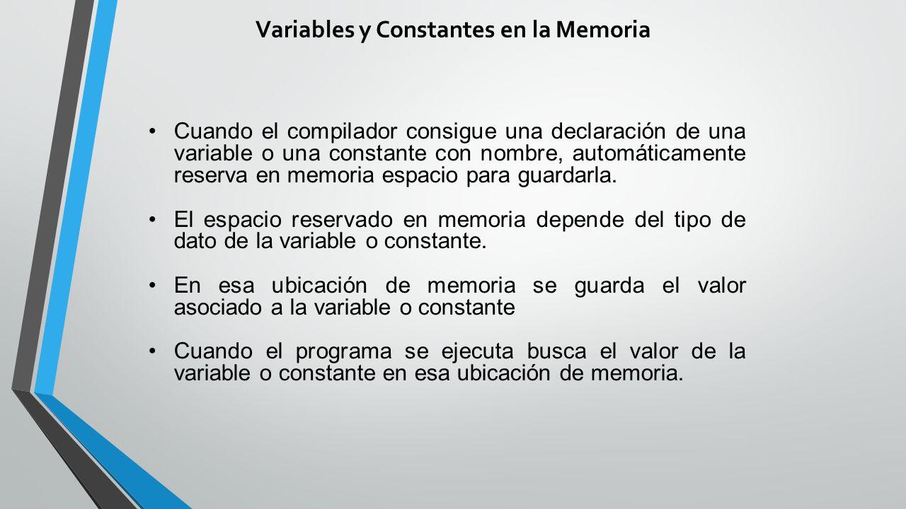 Variables y Constantes en la Memoria