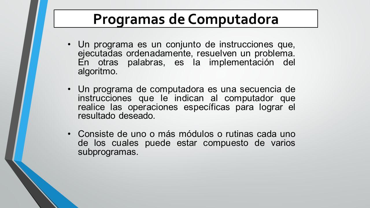 Programas de Computadora