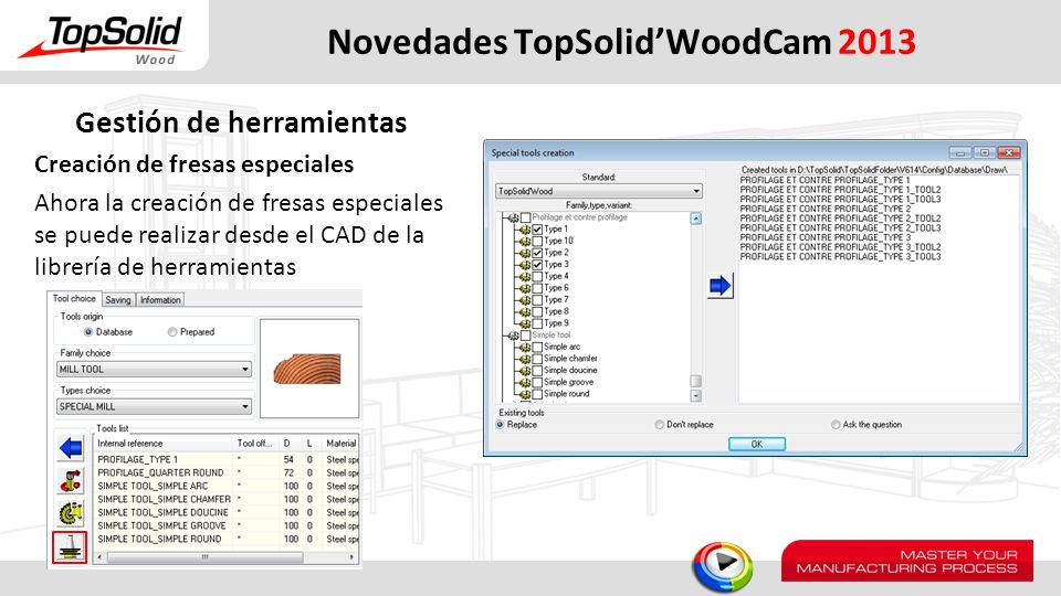 Novedades TopSolid'WoodCam 2013