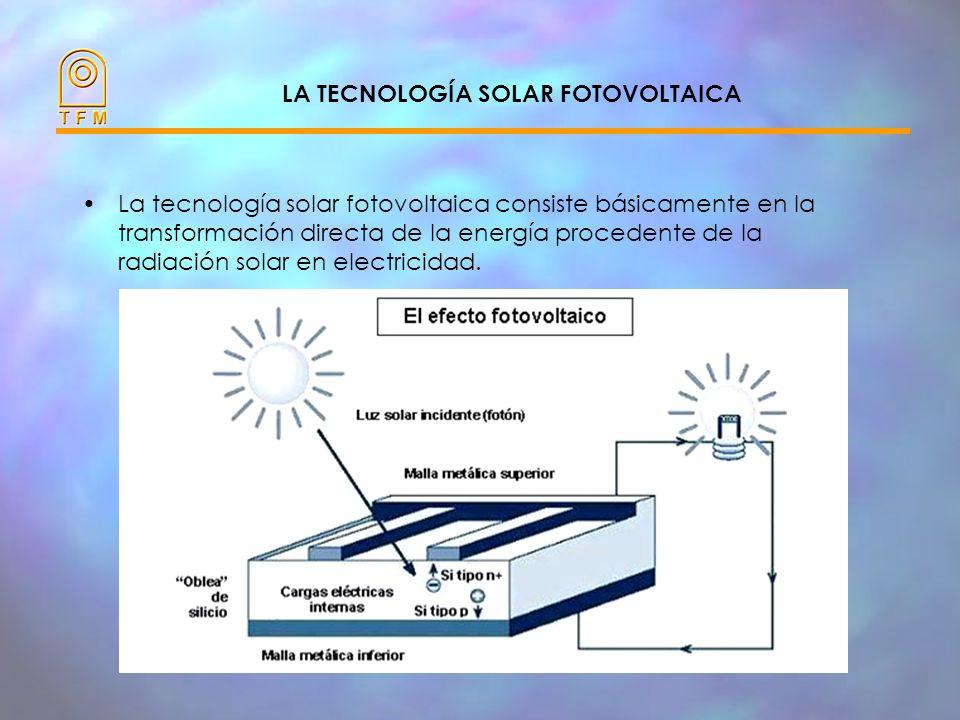LA TECNOLOGÍA SOLAR FOTOVOLTAICA