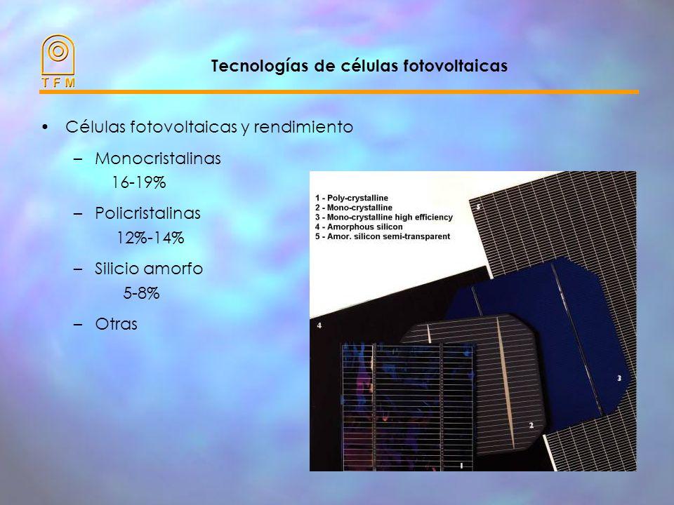 Tecnologías de células fotovoltaicas