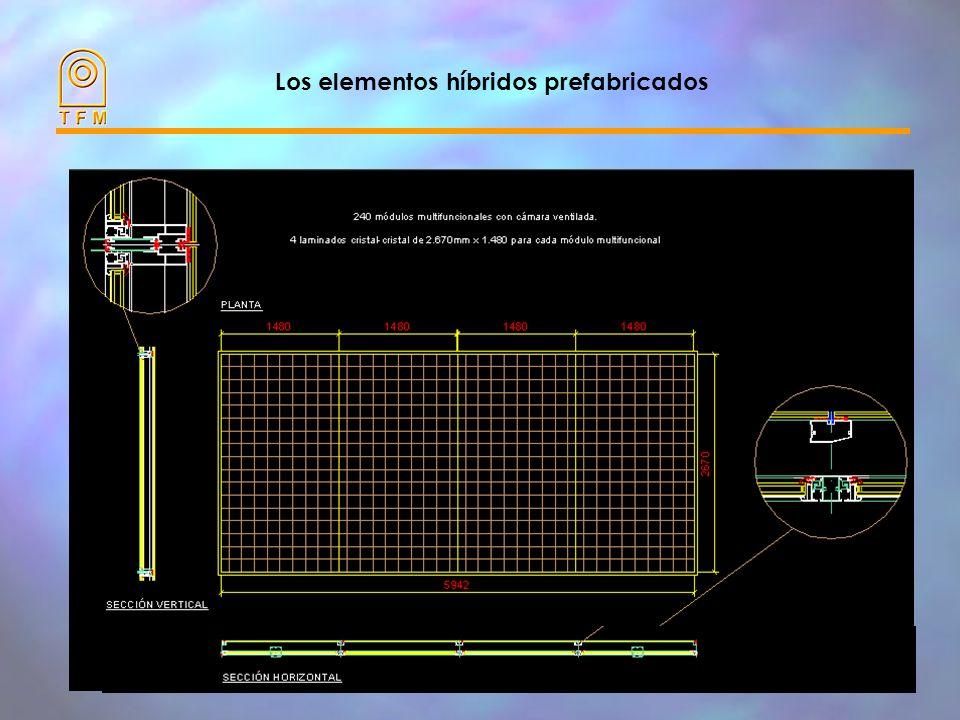 Los elementos híbridos prefabricados