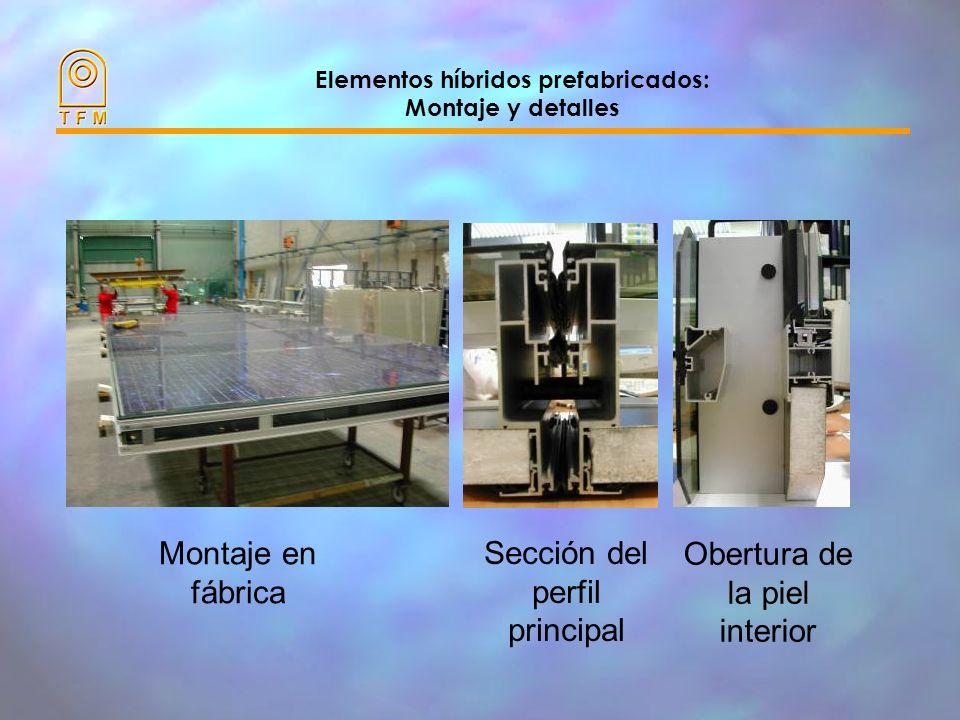 Elementos híbridos prefabricados: Montaje y detalles