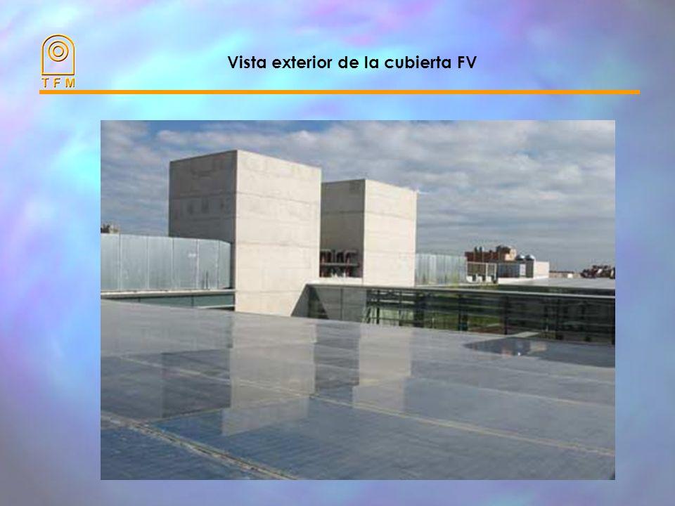 Vista exterior de la cubierta FV