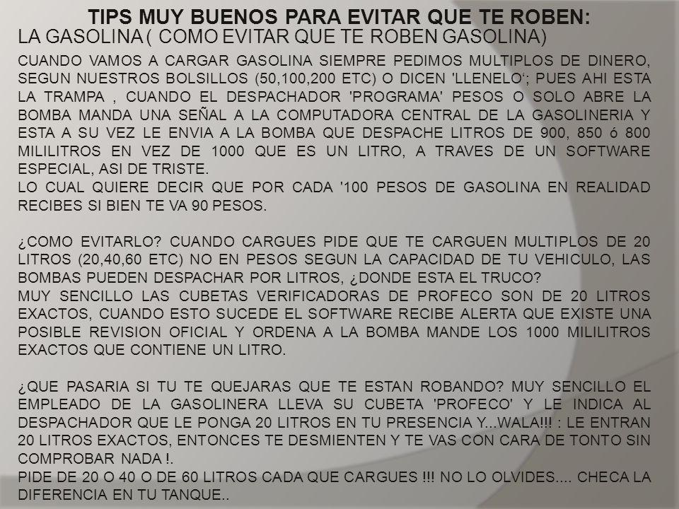 TIPS MUY BUENOS PARA EVITAR QUE TE ROBEN: