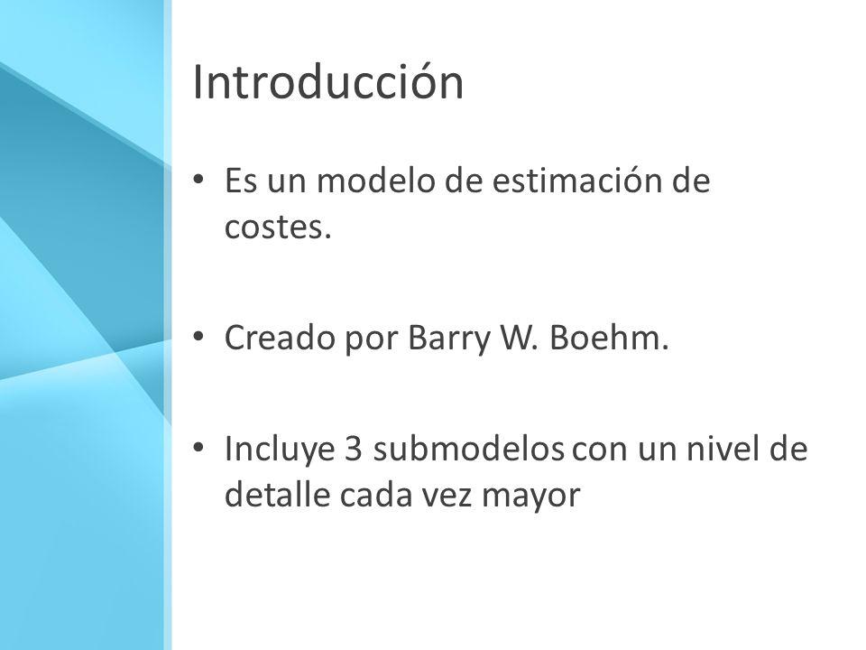 Introducción Es un modelo de estimación de costes.