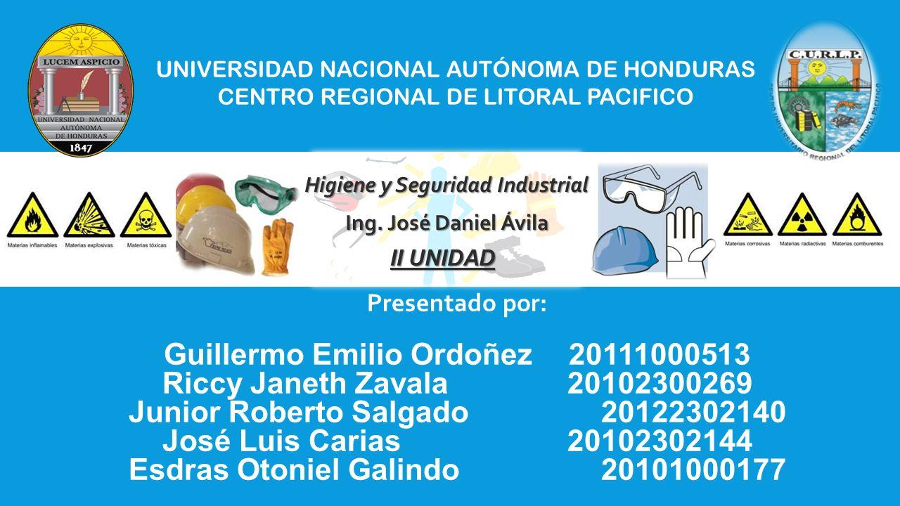 Guillermo Emilio Ordoñez 20111000513 Riccy Janeth Zavala 20102300269