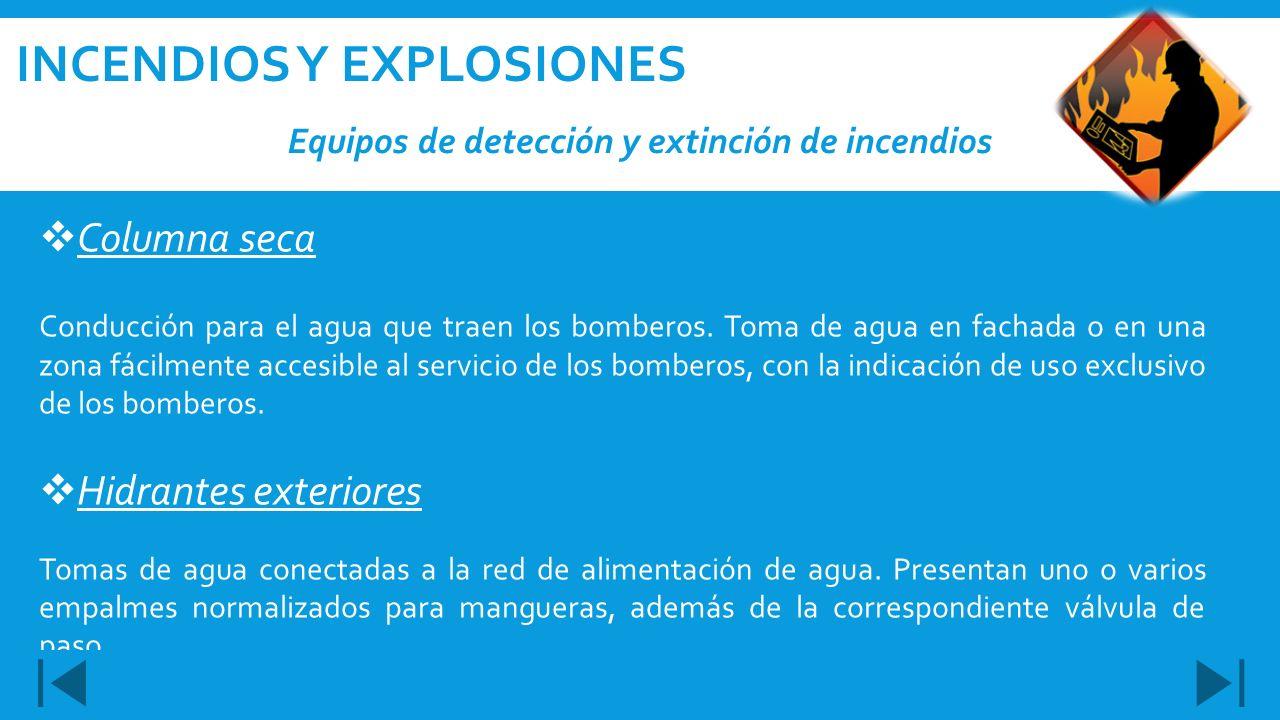 Equipos de detección y extinción de incendios