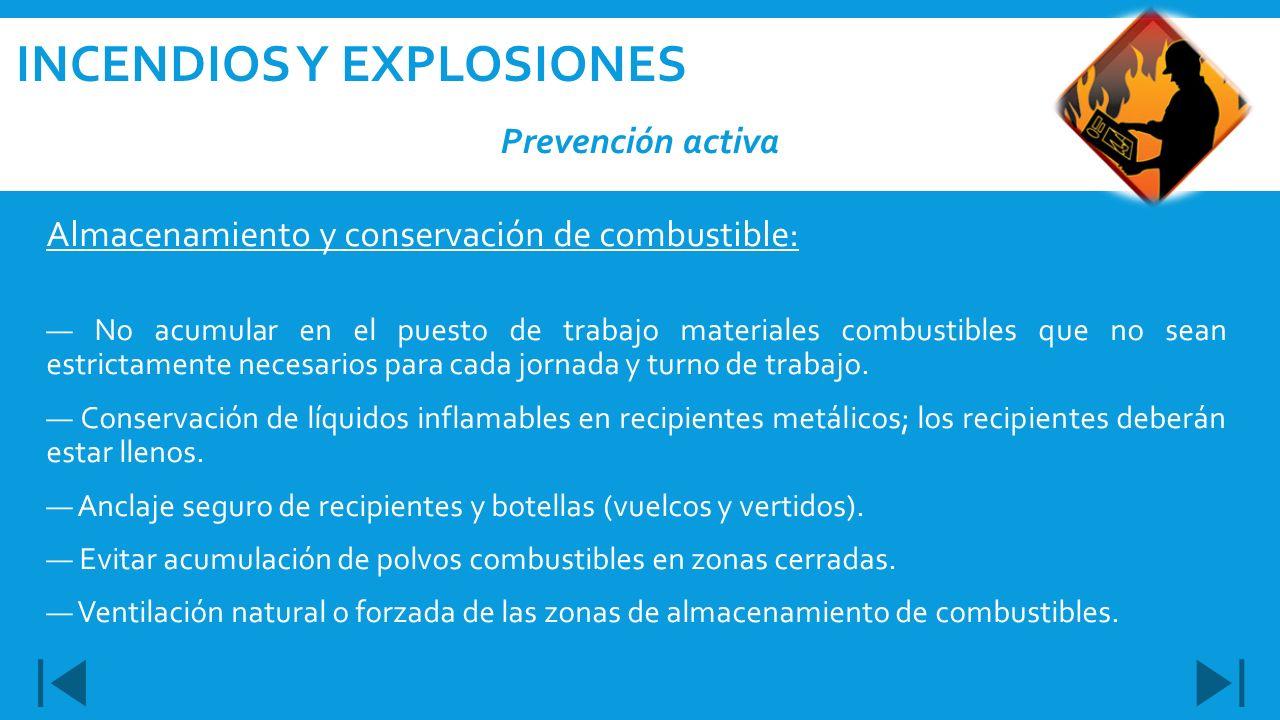 Incendios y explosiones