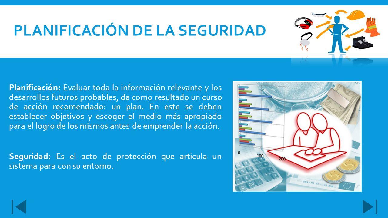 Planificación de la seguridad