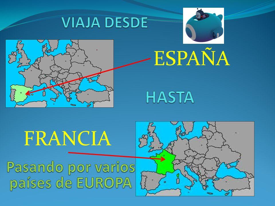 Pasando por varios países de EUROPA