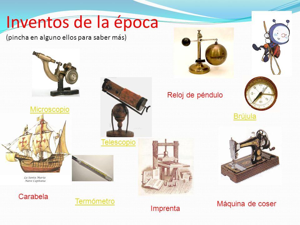 Inventos de la época (pincha en alguno ellos para saber más)
