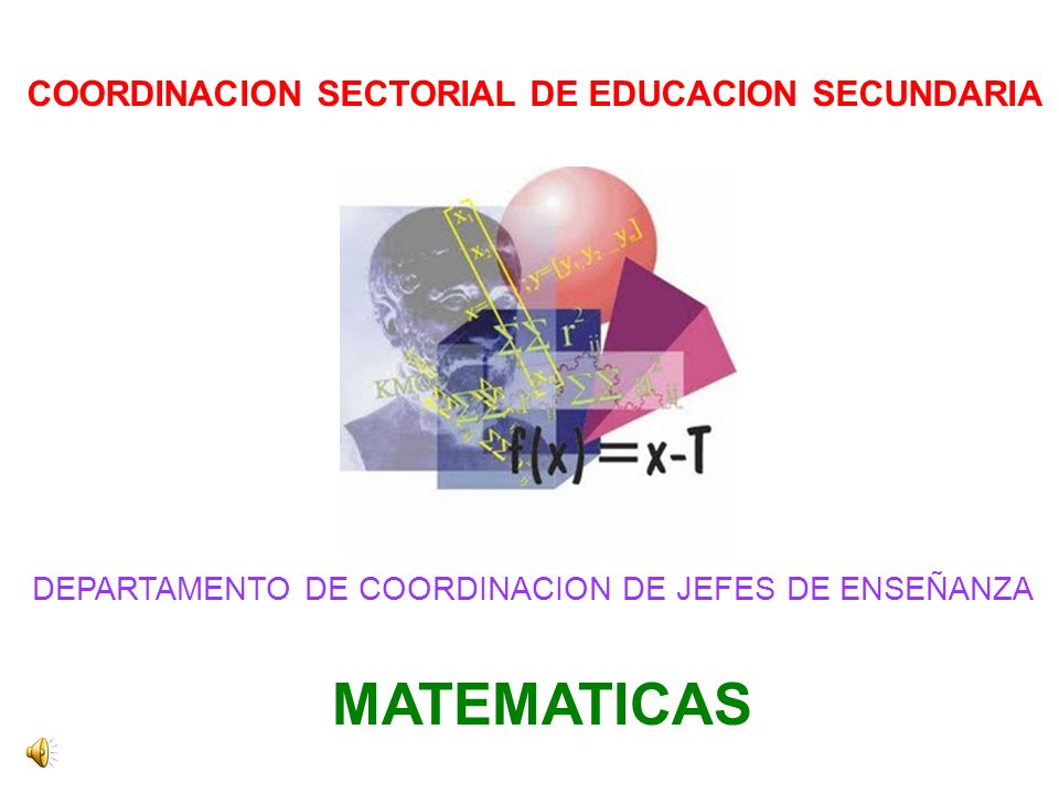 COORDINACION SECTORIAL DE EDUCACION SECUNDARIA