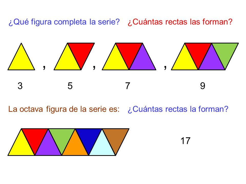 , , , 3 5 7 9 17 ¿Qué figura completa la serie