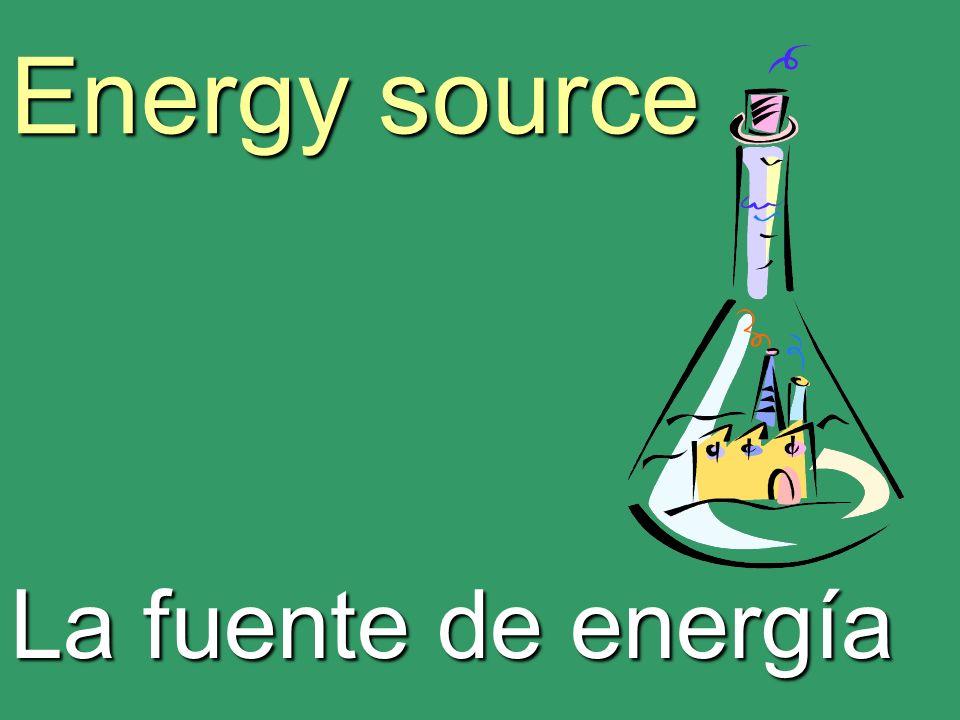 Energy source La fuente de energía