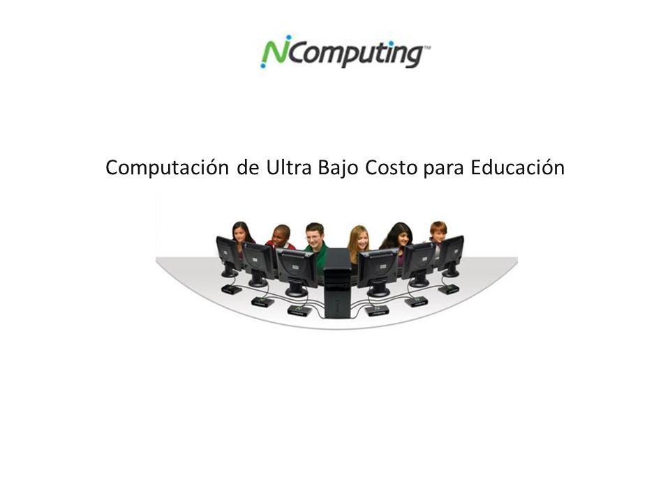 Computación de Ultra Bajo Costo para Educación
