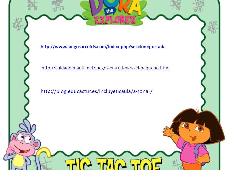 http://www.juegosarcoiris.com/index.php seccion=portada http://cuidadoinfantil.net/juegos-en-red-para-el-pequeno.html.