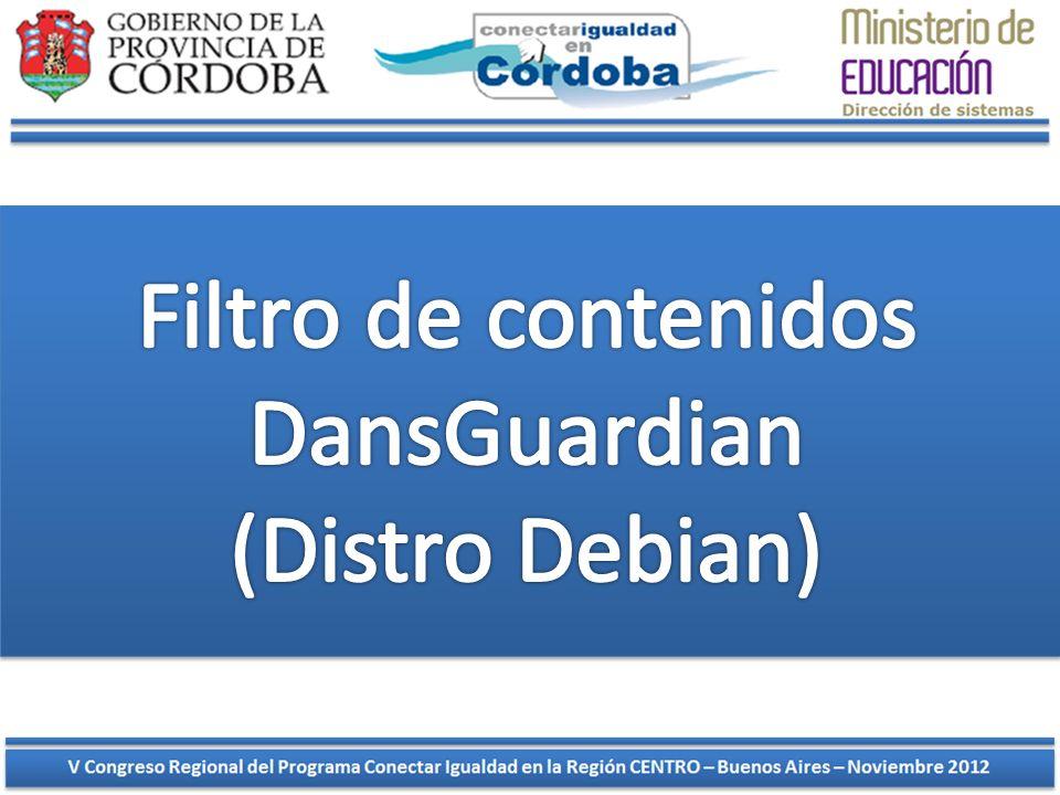 Filtro de contenidos DansGuardian (Distro Debian)
