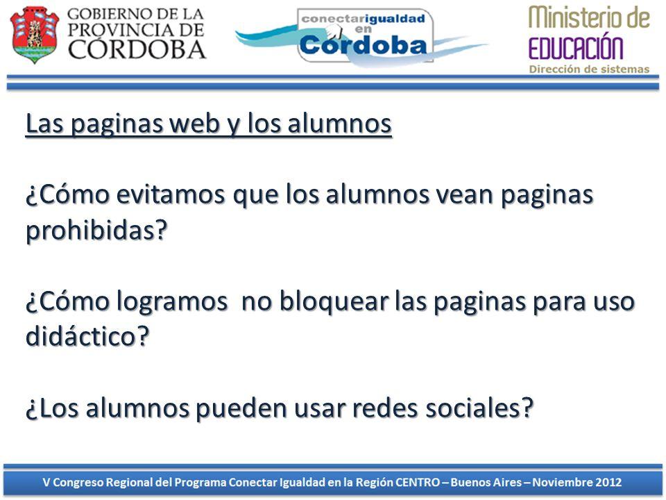 Las paginas web y los alumnos