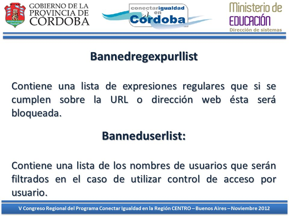 Bannedregexpurllist Banneduserlist: