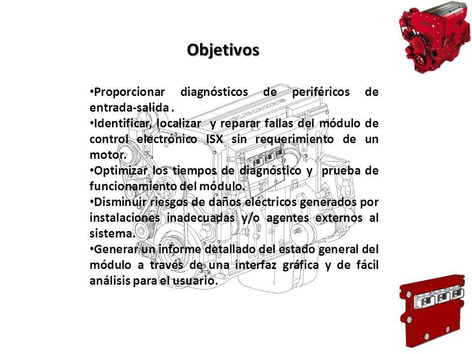 Objetivos Proporcionar diagnósticos de periféricos de entrada-salida .