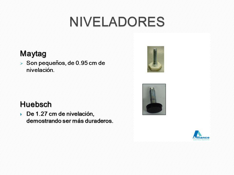 NIVELADORES Maytag Huebsch Son pequeños, de 0.95 cm de nivelación.