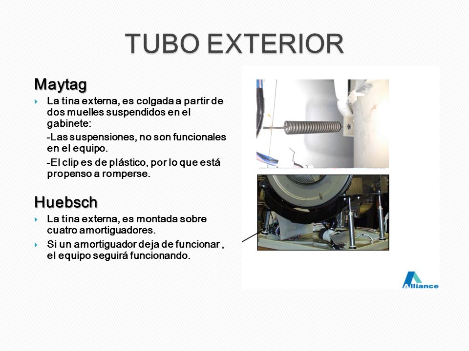 TUBO EXTERIOR Maytag Huebsch