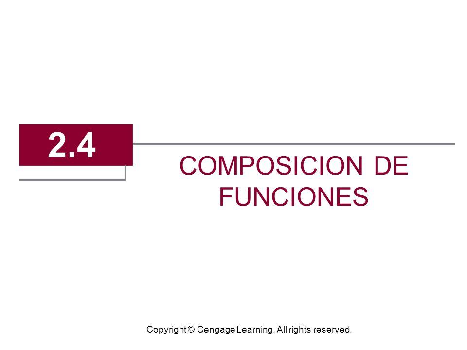 2.4 COMPOSICION DE FUNCIONES