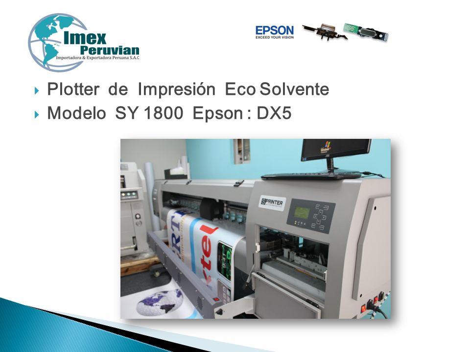 Plotter de Impresión Eco Solvente