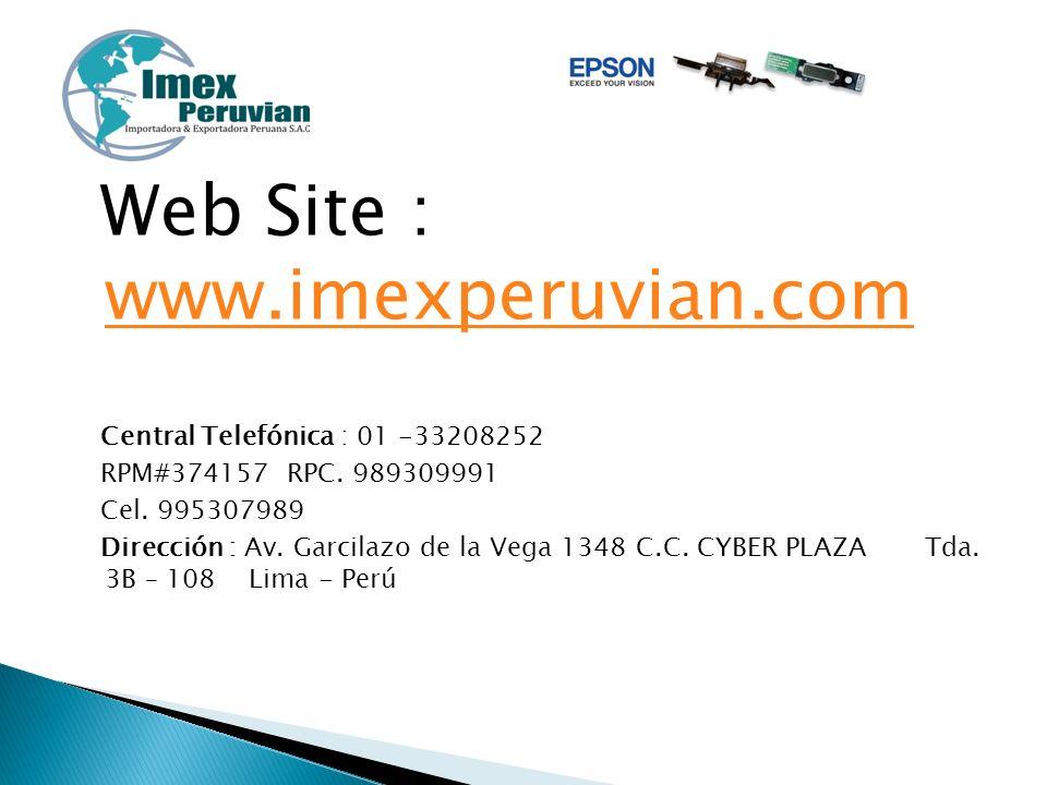 Web Site : www.imexperuvian.com