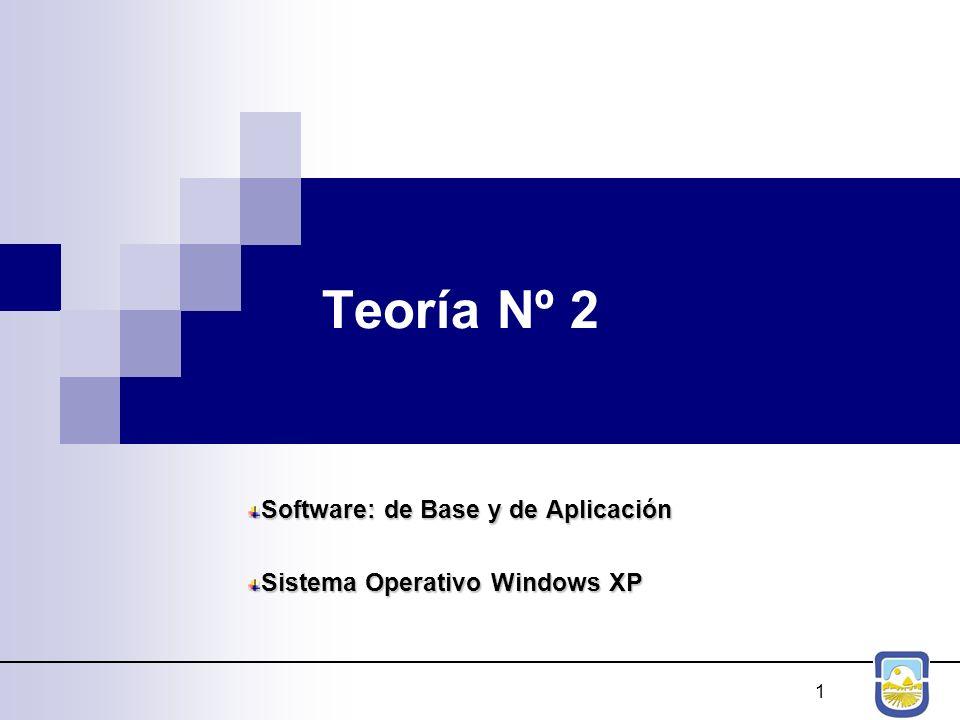 Software: de Base y de Aplicación Sistema Operativo Windows XP