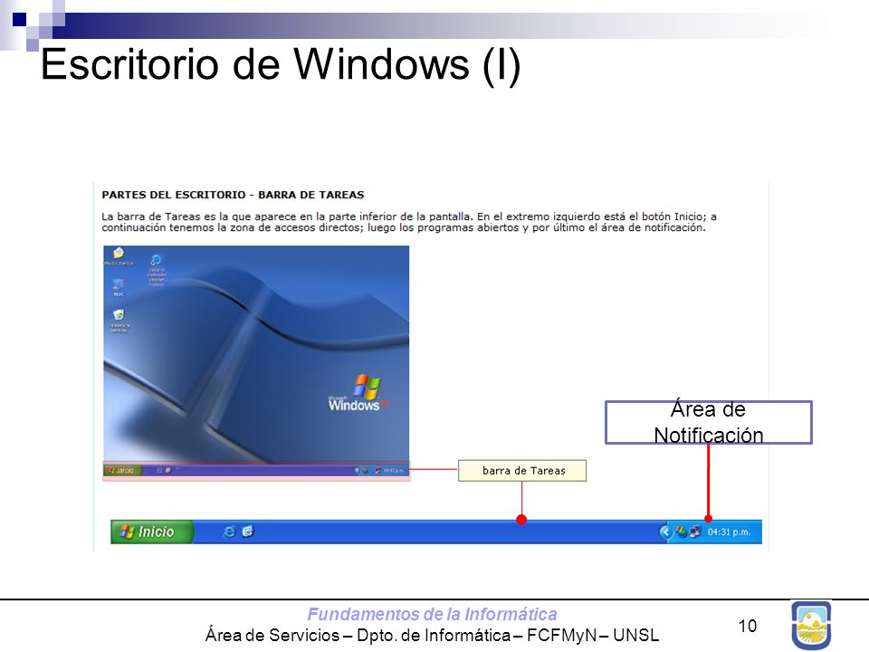 Escritorio de Windows (I)