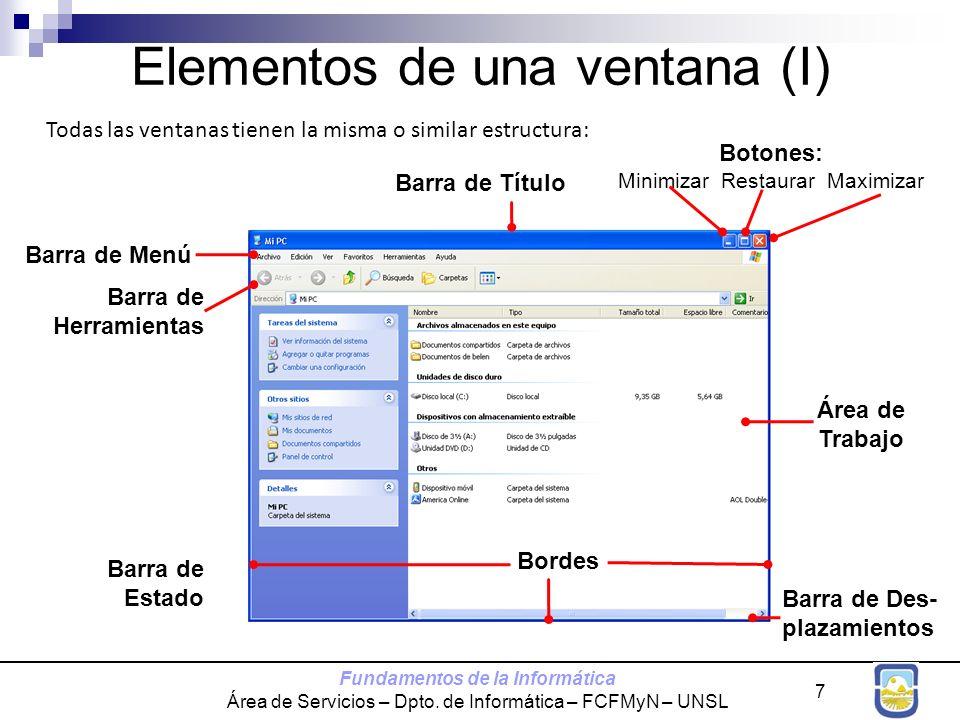 Elementos de una ventana (I)
