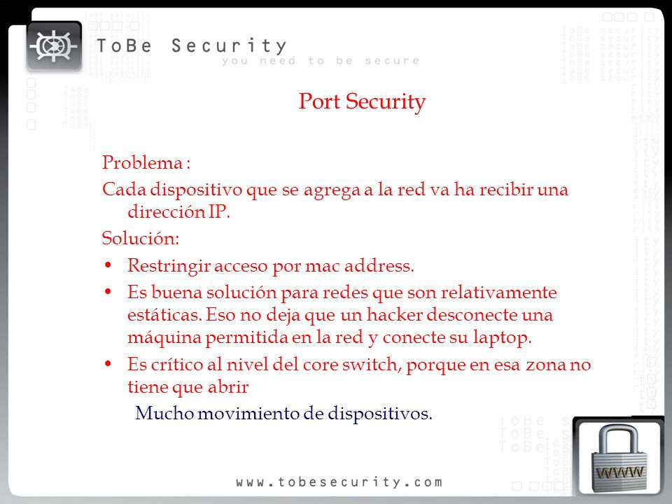 Port Security Problema :