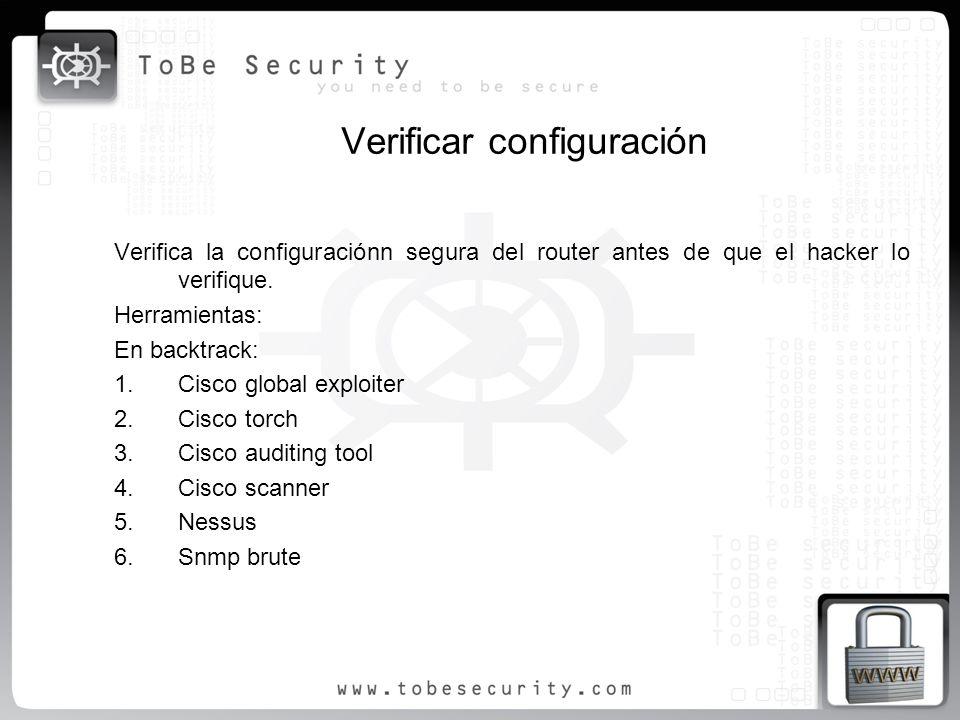 Verificar configuración