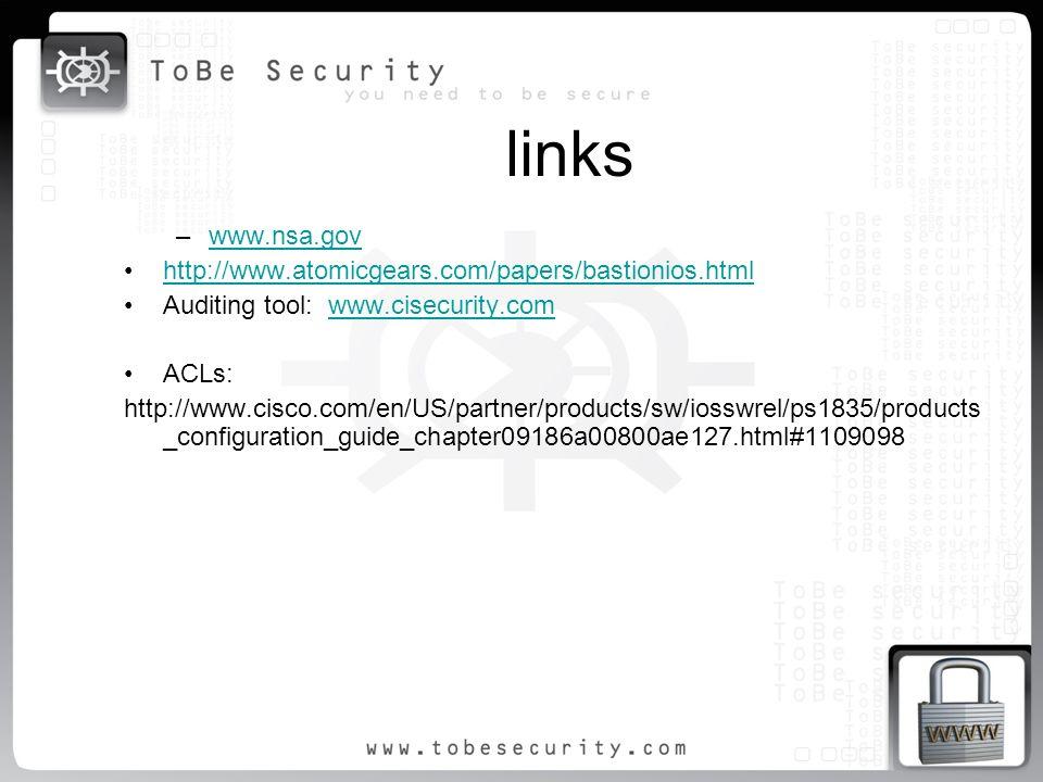 links www.nsa.gov http://www.atomicgears.com/papers/bastionios.html