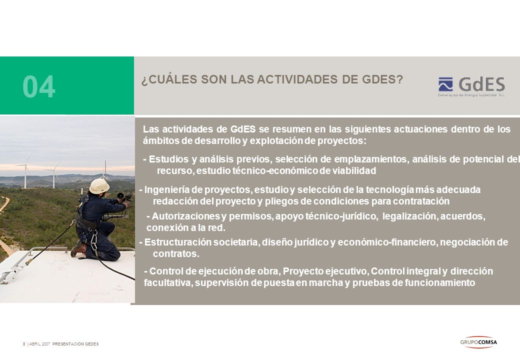 04 ¿CUÁLES SON LAS ACTIVIDADES DE GDES