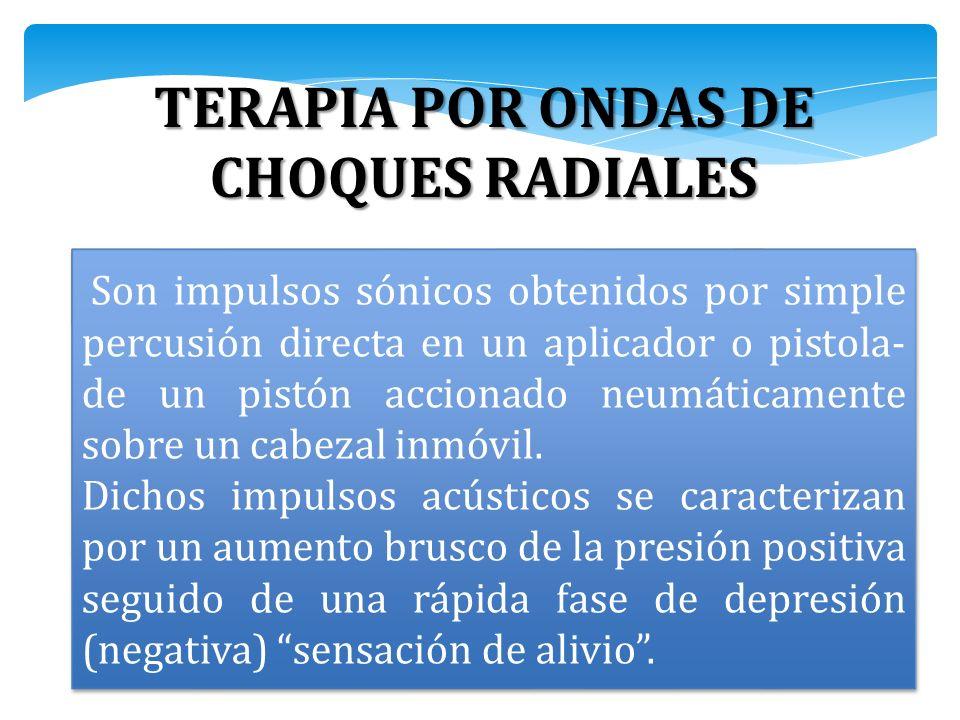 TERAPIA POR ONDAS DE CHOQUES RADIALES