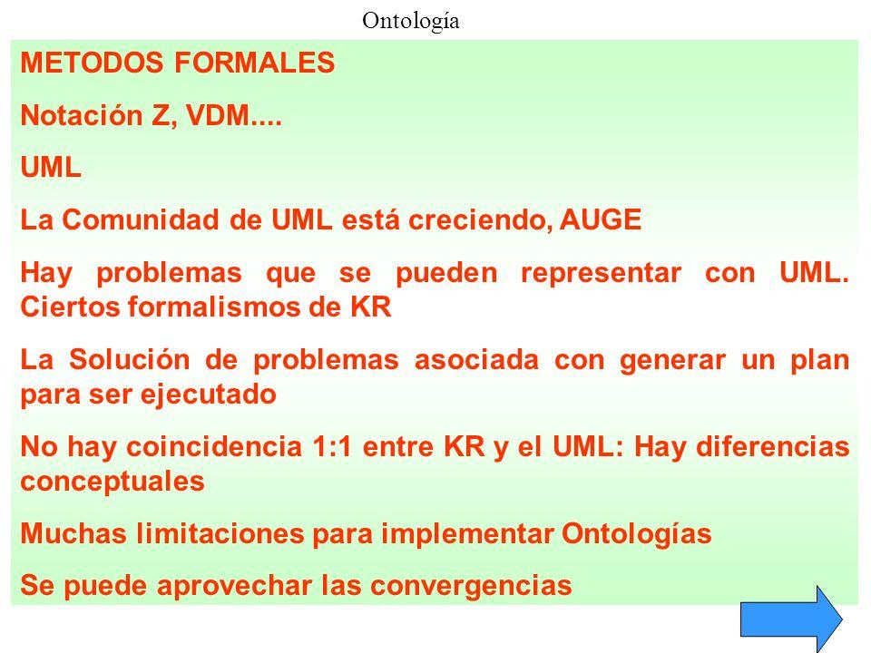 La Comunidad de UML está creciendo, AUGE